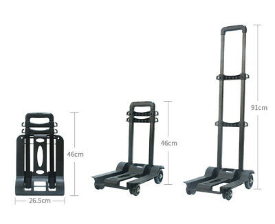 E34 Rugged Aluminium Luggage Trolley Hand Truck Folding Foldable Shopping Cart