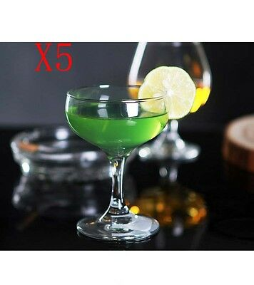 New 5X Capacity 130ML Height 106MM High Foot Cocktail Wine Glass/Glassware %