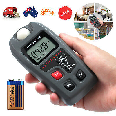 Digital LCD Display Luxmeter Illuminance Light Meter Lux Meter 0.1~200000Lux
