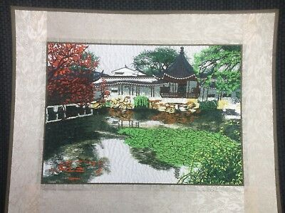 Embroidered Painting Chinese Style Garden 1