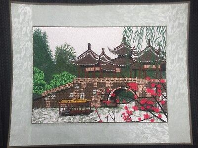 Embroidered Painting Chinese Style Garden 2