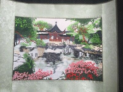 Embroidered Painting Chinese Style Garden 7
