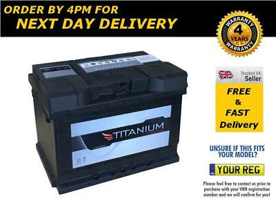 Titanium 075 Car Van Battery 12V 62Ah 520CCA - Ford Vauxhall Renault VW Mini