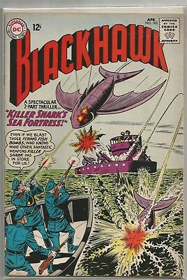 Blackhawk #183 DC Silver Age (1963) Comic Book FN+/VF- (Vs. Killer Shark)