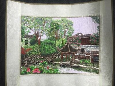 Embroidered Painting Chinese Style Garden 8