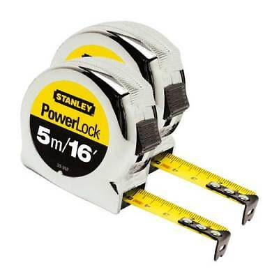 STANLEY 0-33-553 Powerlock Metric Tape Measure Twinpack 5m/16ft