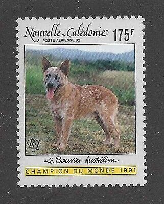 Pho Body Portrait Postage Stamp Red AUSTRALIAN CATTLE DOG New Caledonia 1991 MNH