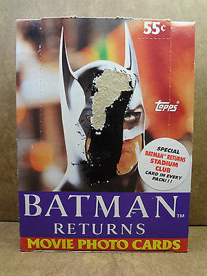 Batman Returns Movie Photo Cards Trading Cards 36 Unopened Packs 1992 Topps