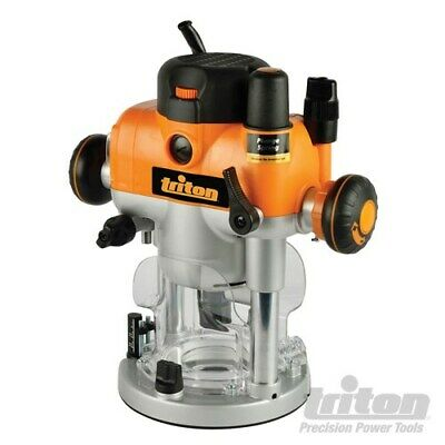 """Triton Tra001 Dual Mode Plunge Router 2400W 1/2""""+12Mm Collets 330165"""
