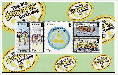 St Helena 2014 MNH Big Brownie Birthday 100 Years 5v M/S Scouting Scouts Stamps