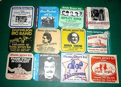 Collectable beer coasters -  Set of 12 assorted Revesby Workers Club coasters