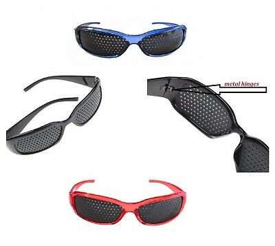 Eyesight Improvement Vision Care Pinhole Glasses Exercise Eyewear Training Black