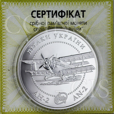 Ukraine 2003 10 UAH AN-2 Aircraft Airplanes of Ukraine 1oz Proof Silver Coin