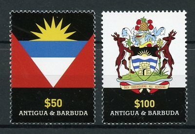 Antigua & Barbuda 2015 MNH Definitives Coat of Arms & Flag 2v Set Flags Heraldry
