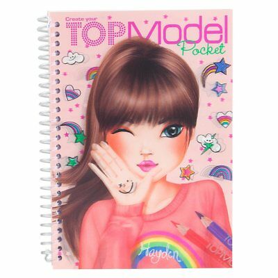 Top Model Design Block Malbuch malen mit Stickers 7857_F orange von Depesche NEU