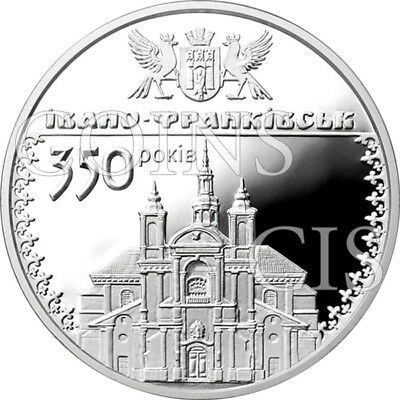 Ukraine 2012 10 UAH 350th Anniversary of Ivano-Frankivsk Proof Silver Coin