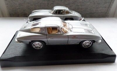 Two die-cast 1/24 scale 1954 Mercedes and Corvette not marked