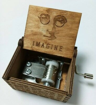 Imagine Handcraft Engraved Wooden Music Boxes JOHN LENNON Collectible Gift