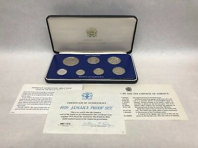 1976 Coinage of Jamaica Seven Coin Proof Set The Franklin Mint
