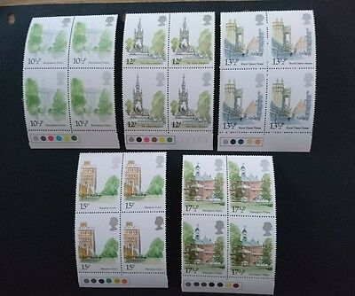 Gb Um Commemorative Stamp Traffic Light Blocks -  London Landmarks - 7.5.80