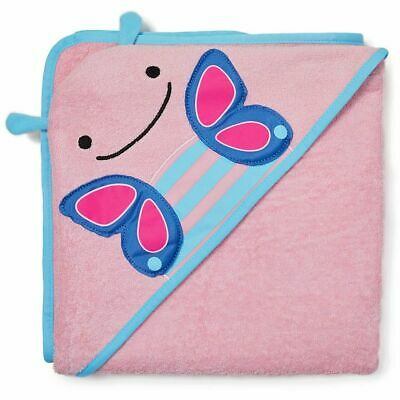 NEW Skip Hop Baby Toddler Hooded Towel - Cute Pink Butterfly