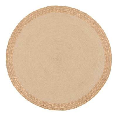NEW Barefoot Metallic Copper and Natural Jute Rug