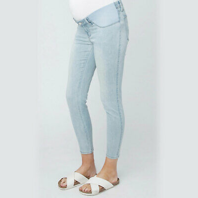 NEW Ripe Maternity Isla Ankle Grazer Denim Jeggings Pregnancy Jeans