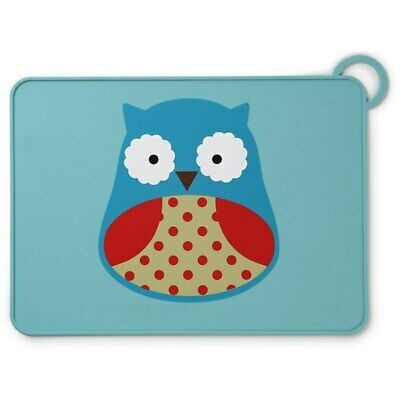 NEW Skip Hop Fold & Go Silicone Placemat - Owl