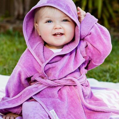 NEW Silly Billyz Organic Cotton Bath Robe - Plum