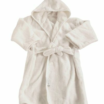 NEW Silly Billyz Organic Cotton Bath Robe - Milk White
