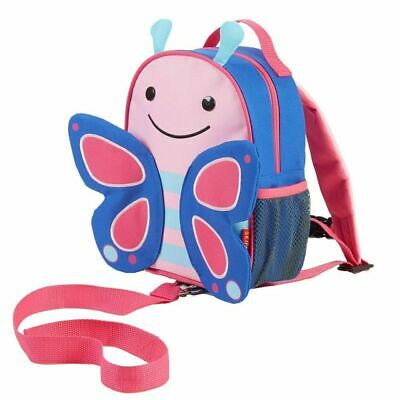 SkipHop Butterfly Zoo Backpack Harness Rein Baby Toddler Safety Leash Strap Bag