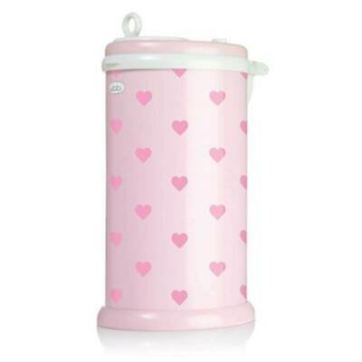 Ubbi Baby Diaper Bin - Light Pink Hearts
