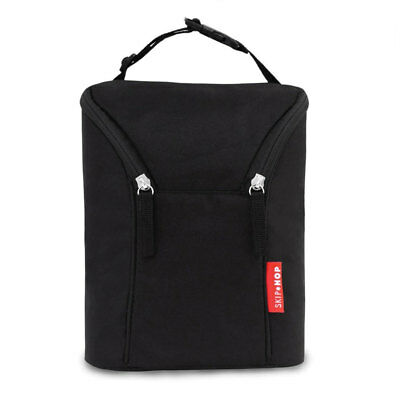 NEW Skip Hop Grab & Go Double Bottle Bag - Black