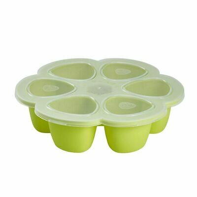 NEW Beaba Silicone Multiportions Tray 6 x 90ml - Neon