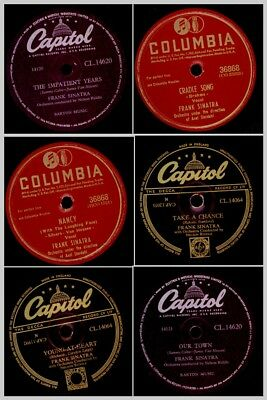 3x FRANK SINATRA  and His Romantic Songs on 78rpm;  Schellackplatte   Set791