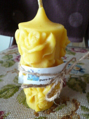 """Pure Bees Wax  rose candle ( 5 1/2"""" x 2"""")"""
