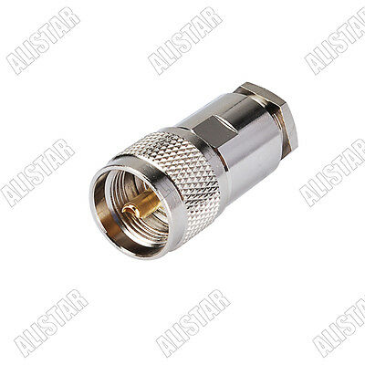 PL259 UHF Male Clamp Connector for LMR400 RG8 RG213 RG214 Coaxial Cable