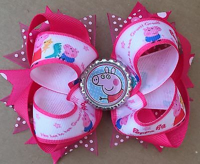 Extra Large Peppa Pig Hair Bow