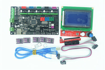 MKS Gen V1.4 3D Printer Controller Kit w/ 12864 LCD Display &5pcs DRV8825 Driver