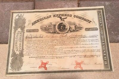 American Express Company Stock Certificate Signed Wells Fargo And Holland # 868