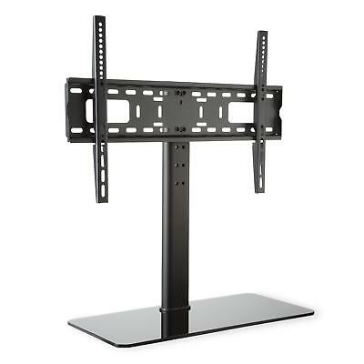 "Auna 23""-55"" Tv Stand Wall Mount Black Glass Base Monitor 75 Cm Ht.  *freep&p*"