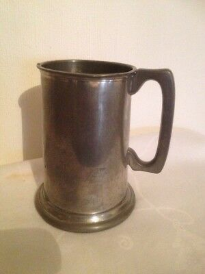 Antique/Vintage Pewter One Pint Pot Tankard By Cameo Sheffield England