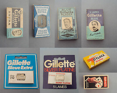 Blades for safety razor - Gillette - 7 oclock - Star - Argus  - Four aces