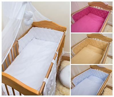 3 5 6 Piece Baby Bedding Quilt Set Cot Bumper Fits 120x60 140x70 CotBed