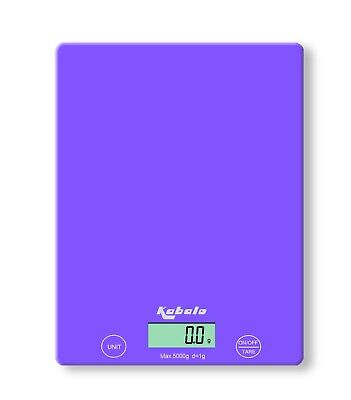 5kg Purple Digital LCD Electronic Kitchen Cooking Food Prep Weighing Scales UK