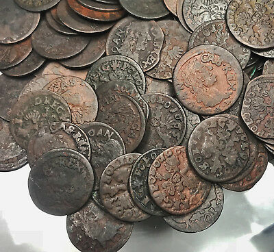 Poland Solidus Szelag 1660-1665 TLB Copper Coin 1Pc From Lot Shown