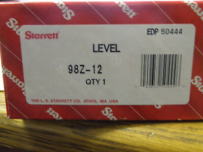 Starrett 98Z-12 Machinists' Level with Ground and Graduated Vial in Wood Case