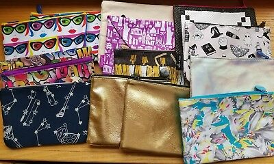 Lot of 13 Black Gold Pattern IPSY / VALFRE  BAGS (Bags Only) NEW Never Used NWOT