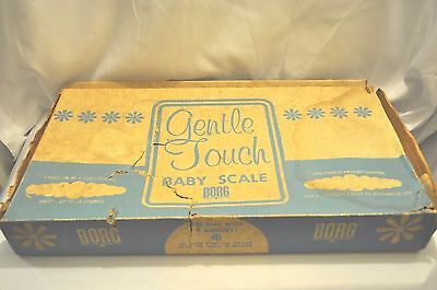 VINTAGE -  White Borg Gentle Touch Infant Baby Scale Mid-century With Box Works!
