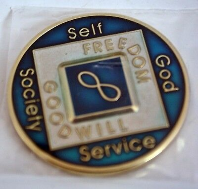 Na  Infinity Enamel Painted Medallion Narcotics Anonymous * Eternity *